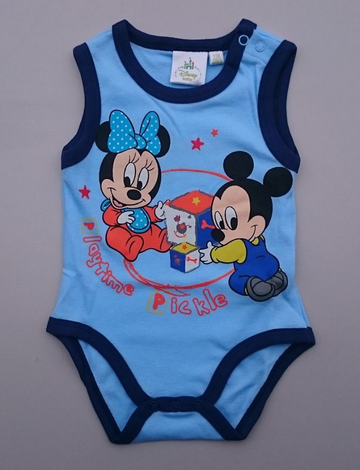 Body MINNIE a MICKEY bez rukáv ( od 50 do 86 ) - 71023 - modrá