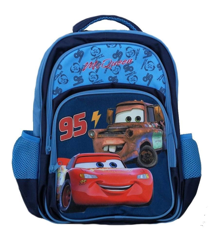 4637405367 Školská taška CARS 41x28x15 - tmavomodrá empty